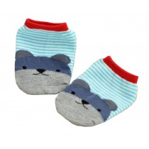 2 Pairs [Bear] Infant Toddler Socks Cotton Socks for Baby Child Kid, 0-2 Years