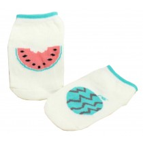 2 Pairs [Watermelon] Infant Toddler Socks Cotton Socks for Baby Kid, 0-2 Years