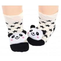 2 Pairs [Panda] Infant Toddler Socks Cotton Socks for Baby Kid, 6-18 Months