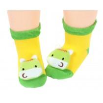 2 Pairs [Horse] Infant Toddler Socks Stripe Socks for Baby Kid, 6-18 Months