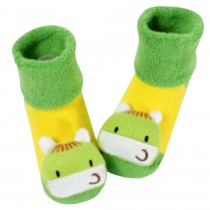 [Horse] Thick Infant Toddler Cotton Socks for Baby, 6-18 Months, 2 Pairs