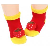 2 Pairs [Berry] Infant Toddler Socks Stripe Socks for Baby Kid, 6-18 Months