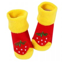 [Berry] Thick Infant Toddler Cotton Socks for Baby, 6-18 Months, 2 Pairs