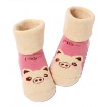 [Pig] Thick Infant Toddler Cotton Socks for Baby, 1-3 Years, 2 Pairs