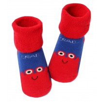 [Crab] Thick Infant Toddler Cotton Socks for Baby, 1-3 Years, 2 Pairs
