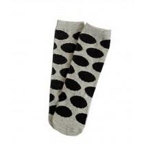 2 Pairs Knee High Stockings Unisex-baby Tube Socks for Kids [Spot, Grey]