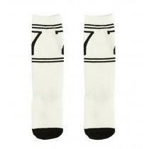 2 Pairs Knee High Stockings Unisex-baby Tube Socks for Kids [Black 7]