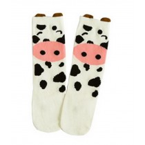 2 Pairs Knee High Stockings Unisex-baby Tube Socks for Kids [Cute Piggy]