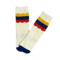 2 Pairs Knee High Stockings Unisex-baby Tube Socks for Kids [Colorful Clouds]