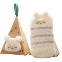 Soft Coral Velvet Baby Socks Cute Cartoon Infant Socks Lazy Sheep