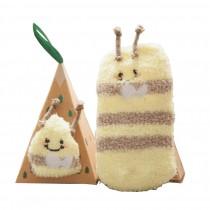 Soft Coral Velvet Baby Socks Cute Cartoon Infant Socks Yellow Bee