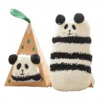 Soft Coral Velvet Baby Socks Cute Cartoon Infant Socks Stripe Panda