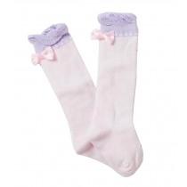 [Bow Pink] Lovely Baby Knee High Stockings Tube Socks for Children