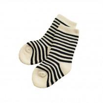 Set of 2 Newborn Thick Warm Cotton Socks 0-24 Months Baby Yellow Black Stripe