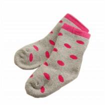 Set of 2 Newborn Thick Warm Cotton Socks 0-24 Months Baby Red Circle