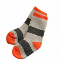 Set of 2 Newborn Thick Warm Cotton Socks 0-24 Months Baby Gray Orange