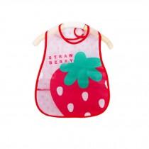 Soft Plastic EVA Baby Waterproof Bibs For 1-3 Years Baby Big Strawberry