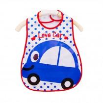 Soft Plastic EVA Baby Waterproof Bibs For 1-3 Years Baby Blue Car