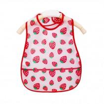Soft Plastic EVA Baby Waterproof Bibs For 1-3 Years Baby Small Strawberry