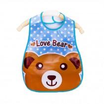 Soft Plastic EVA Baby Waterproof Bibs For 1-3 Years Baby Love Bear