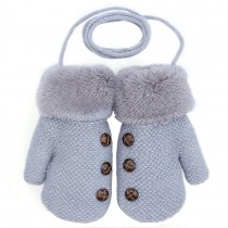 Knitting Gloves For Baby Winter Warm Gloves New Arrival[Gray]