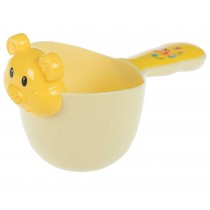Baby Bath Water Spoon/Baby Shampoo Swimming Toy Water Bailer Spoon Ladle Yellow