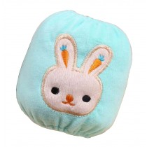 2 Pairs Baby Plush Oversleeves Kids Sleeves Covers Rabbit Blue