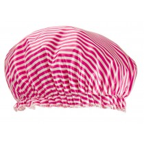 Poly&EVA Waterproof Multifunctional Double layer Shower Cap, Stripe