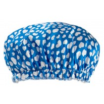 Poly&EVA Waterproof Multifunctional Double layer Shower Cap, Sky Heart