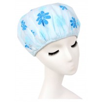 Japanese Syyle Double Layer Adult Waterproof Bath Shower Cap Bathing Cap Blue