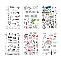 Set Of 6 Lovely Tattoo Paste Ankle Arm Tattoo Paste Personality Tattoos