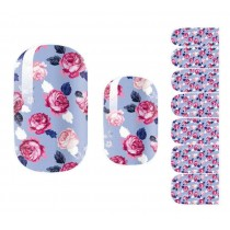 [Purple] Set of 5 Stylish Nail Stickers Nail Decals Manicure Decals