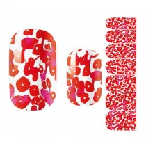 Set of 5 Stylish Nail Stickers Nail Decals Manicure Decals Red