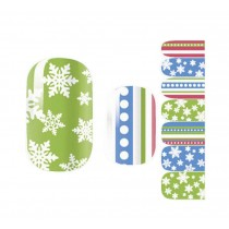 [Snow] Set of 5 Nail Stickers Nail Decorations DIY Nail Art