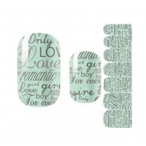 Set of 5 Creative Nail Stickers DIY Nail Decals Love