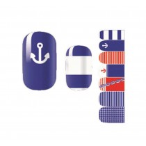 Set of 5 Lovely DIY Nail Stickers Decals Manicure Decals Navy