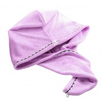 Bath Towel Hair Dry Hat Cap Hair Drying Towel Lady Bath Tool Light Purple