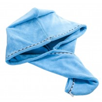 Bath Towel Hair Dry Hat Cap Hair Drying Towel Lady Bath Tool Blue