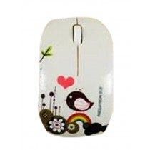 Cartoon Creative Small Wireless Mouse Mute Mouse Milk White