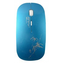 Creative Wireless Mouse Ultra-thin Mouse Gaming Mouse Blue