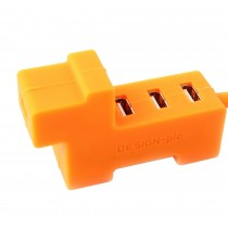 Creative Orange Dog USB HUB 4-Port High-Speed Computer USB Hubs Cute Puppy Hubs