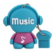 Blue Doll 32GB USB 2.0 Flash Drive High Speed USB Flash Disk / Memory Stick