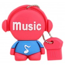 Red Doll 32GB USB 2.0 Flash Drive High Speed USB Flash Disk / Memory Stick