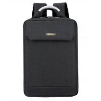 Simple Style Laptop Backpack Business Backpack Travel Bag for Man Black