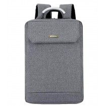 Simple Style Laptop Backpack Business Backpack Travel Bag for Man Gray