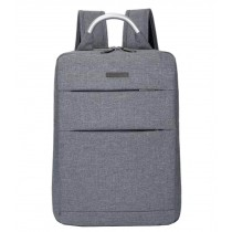 Simple Style Laptop Backpack Business Backpack Travel Bag Gray