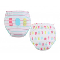 [Ice] Baby Toilet Training Pants Nappy Underwear Cloth Diaper 15.4-26.4Lbs 2 PCS