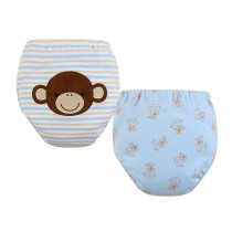 [Monkey] Baby Toilet Training Pants Nappy Underwear Cloth Diaper 15.4-26.4Lbs