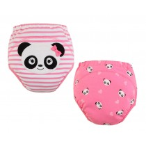 Cute Panda Baby Toilet Training Pants Nappy Underwear Cloth Diaper 15.4-26.4Lbs