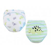 [Dinosaur] Baby Toilet Training Pants Nappy Underwear Cloth Diaper 15.4-26.4Lbs